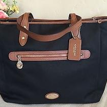 Nwt Coach F37758 Sawyer Canvas Multifunction Baby Diaper Tote Bag 395 Black Photo