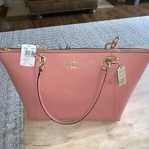 Nwt Coach F57526 Crossgrain Ava Tote Vintage Pink 100% Authentic Photo