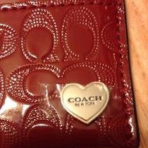 Nwt Coach F62405 Red Card Case Heart Emblem Valentines Gift Wallet New Rare 2015 Photo