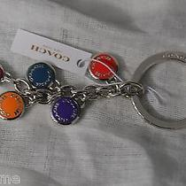 Nwt Coach F63982 Silver / Multicolor Circles Key Ring / Key Chain. Great Present Photo