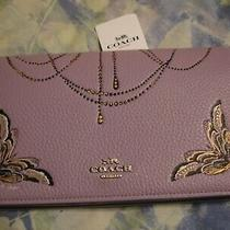 Nwt Coach F76770 Hayden Leather Foldover Crossbody Clutch Lilac Multi Photo