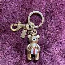 Nwt Coach F87166 Gold Gifting Teddy Bear Bag Charm Key Chain Photo