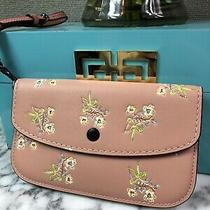 Nwt Coach Floral Leather Clutch Wristlet - 21645 Photo