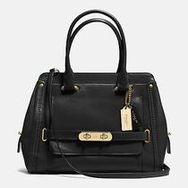 Nwt Coach Frame Swagger Glove Tanned Leather Satchel Crossbody - Black 37182 Photo