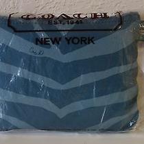 Nwt Coach Getaway Zebra Print Tote Mineral F77534  Photo