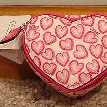 Nwt Coach Heart Print Heart Jewerly Pouch   68448 Photo