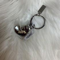 Nwt Coach Horse and Carriage Heart Bag Charm Key Fob Ring F35133  68 Photo