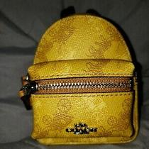 Nwt Coach Horse & Carriage Gold Mini Backpack Coin Keychain Charm F88095 Photo