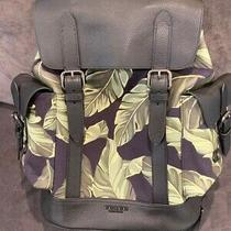 Nwt Coach Hudson Backpack With Banana Leaves Qb/navy Green Style No. 2387 - 698 Photo