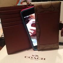Nwt Coach Iphone 6 Six Wristlet Case Wallet With Detachable Strap Photo