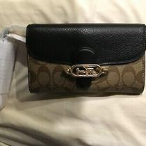 Nwt Coach Jade Signature Canvas Chain Crossbody Purse Bag Clutch 88101 Photo