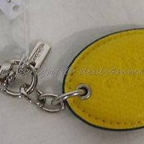 Nwt Coach Key Ring F63635 Badlands Oval Chalk. Keyring/keychain/bag Charm. Photo