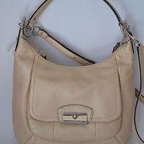 Nwt Coach Kristin Leather Hobo Bag Champagne F22306 Msrp379 Photo