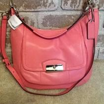 Nwt Coach Kristin Leather Hobo in Rose/silver - F22306 Photo