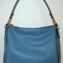 Nwt Coach Lake Blue Pebbled Soft Leather Shay Shoulder Tote Bag Purse 93811 Photo