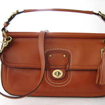 Nwt Coach Leather City Willis Crossbody Bag Brass/british Tan Photo