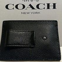 Nwt Coach Leather Money Clip Card Case F75459 New Arrival Nice Father's Day Gift Photo