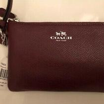 Nwt Coach Leather Wristlet Photo