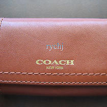 Nwt Coach Legacy Leather 6-Ring Key Case Cognac 48661 Photo