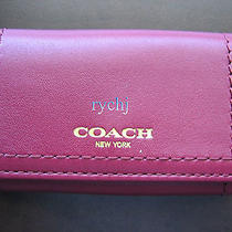 Nwt Coach Legacy Leather 6-Ring Key Case Deep Port 48661 Photo