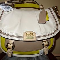 Nwt Coach Madison Annabelle Leather Colorblock Satchel Crossbody Purse 22269 Photo