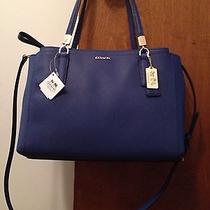 Nwt Coach Madison Christie Small Blue Lacquer Carryall 30128 Photo