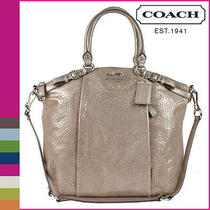 Nwt Coach Madison Embossed Metallic Leather Lindsey 18942 Photo