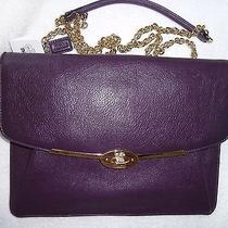 Nwt Coach Madison Leather Crossbody  66215 Violet  Photo