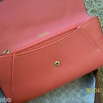 Nwt Coach Madison Leather Slim Envelope Wallet F49595 Peony- Free Shipping Photo