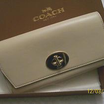 Nwt Coach Madison Leather Slim Envelope Wallet F51968 Milk- Free Shipping Photo