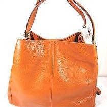 Nwt Coach Madison Leather Small Phoebe Shoulder Bag Li Gold Orange Spice F26224 Photo