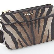 Nwt Coach Madison Multi Light Brown Zebra Print Iphone Case/wristlet Free Ship Photo