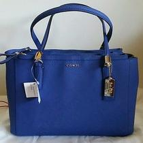 Nwt Coach Madison Small Christie Carryall Satchel Saffiano 30128 Lacquer Blue Photo