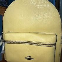 Nwt Coach Medium Charlie Backpack/purse in Sunflower Yellow Photo