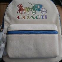 Nwt Coach Medium Charlie Backpack W/ Rainbow Horse and Carriage 398 Photo