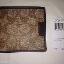 Nwt Coach Men Chelsea Signature Compact Id Wallet F74736 Skhbr Photo