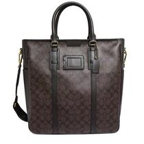 Nwt Coach Men's Bsg Monogram Tote Bag in Mahogany/brown 70872 498 Photo