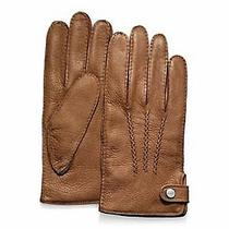 Nwt Coach Mens Deerskin Leather Cashmere Lined Gloves Fawn Brown Xl 82867 148 Photo