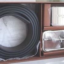 Nwt Coach Mens Signature Cut-Size Belt Reversible Blk/mhgny 2 Buckle 66130 Boxed Photo