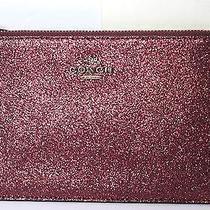 Nwt Coach Metallic Cherry Glitter Leather Small Wristlet F64585 Photo