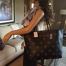 Nwt Coach Metro City Star Canyon Leather Limited Ed. Bag Tote Shopper 35917 325 Photo