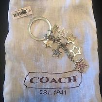 Nwt Coach Multi Crystal Stars Keychain Keyfob Key Ring F62734 Photo