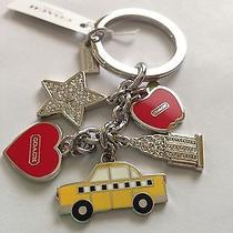 Nwt Coach New York City Keychain Key Fob. Great Gift or Accesory for Your Bag. Photo