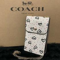 Nwt Coach North/south Crossbody Crayon Hearts Print Phone Case Rare Item 91050 Photo