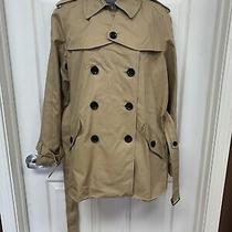Nwt Coach Ocelot Khaki Trench Coat Womens L Retail 450 Sharp Photo