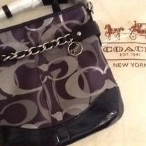 Nwt Coach Optic Metallic Signature Chain Duffle Crossbody Shoulder Bag Photo