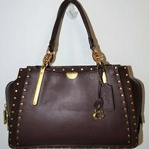Nwt Coach Oxblood Mixed Leather Rivet Boarder Dreamer Satchel Purse Bag 35617 Photo