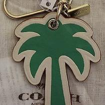 Nwt Coach Palm Tree Gold Tone Key Ring/chain/charm Fob F65859  Photo
