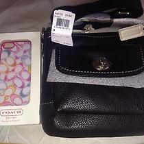 Nwt Coach Park Leather Swingpack Crossbody Black 49170 Iphone 5 Scribble Case Photo