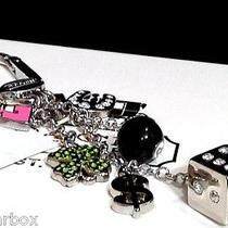 Nwt Coach Pave Lucky Charm Mix Key Chain Fob 8 Ball-Pink 7-Dice-Clover-Horseshoe Photo